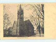 Divided-back Congregational Church Hyde Park Vermont Vt Ad2139
