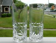 2 And Co. Crystal Rock 6 1/2 Highball Tumblers Glasses