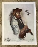 William Bill Koelpin Signed Limited Edition 245/300 The Poacher Hunting Print