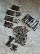 Lionel O 27 Gauge Track Lot 41 Straight And 32 Curved + Switch Tracks