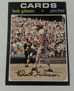 1971 Topps 450 Bob Gibson St. Louis Cardinals Nm Sending To Get Graded In July