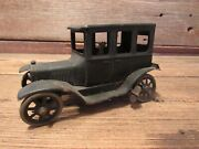 Vintage Germany Tin Lithograph Wind Up Works Model T Ford Stamped Car W/driver
