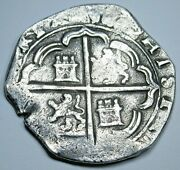 1500and039s Toledo Spanish Silver 2 Reales Antique Colonial Pirate Treasure Cob Coin