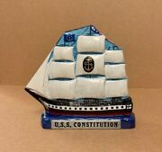Uss Constitution Navy Chief 6 Metal Coin Bank Military Art + Cpo Challenge Coin