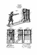 United States Patent Office William Tell Mechanical Bank 1890's Art Print