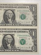 Double Ladder Pair Number 55443322 - 1988a 1 Gem Ny/minn Frns Unc!super Rare!