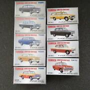 164 Scale Tomica Limited Vintage Series 9 Pcs Set Toyopet Crown Tomy Tec Used