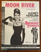 Vintage 1961 Moon River Sheet Music Breakfast At Tiffanys Mint Condition