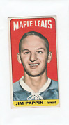 64-65 Topps Tallboys Jim Pappin Rookie Card Toronto Maple Leafs 64