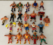 Wwf Wwe Early Vintage 1990andrsquos Used Wrestling Action Figures Lot / Parts