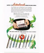 1952 Esterbrook Fountain Pens Christmas Ad 9 Different Vintage Print Ad