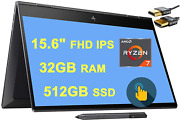 Newest 2020 Hp Envy X360 15 2 In 1 Laptop 15.6andnbspfhd Ips Touchscreen Amd Octa-co