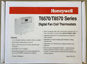 Honeywell T6570 Thermostat T8570 Cooling T8575c2005 Digital Fan Coil Thermostats