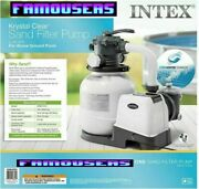 New 26645eg Intex 2100 Gph Sand Filter Pump For Above Ground Pools Fast Ship