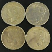Lot Of 4 Peace Silver Dollars 1922p 1922d 1922s 1923s 68930-005