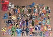 Vtg 1980s Action Figures Figurines Collection Lot Junk Drawer Toy Box Cleanout