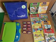 Leap Frog Leappad Plus Writing Learning System W/ Case Cartridges Booklets