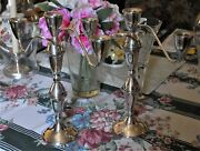 Pr Of 2 Vintage Duchin Sterling Silver Weighted 12 Candelabra 4-way, 1-3 Candle