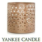 Yankee Candle Belmont Copper Metal Jar Candle Holder ⭐new In Box With Tags⭐