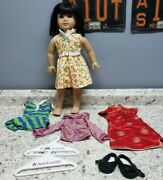 American Girl Doll Ivy Ling With Original Shirt New Years Dress