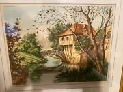Vintage Paris Etching Society Matted And Framed 310 Gai Matin Signed Pierre