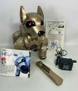 2001 I-cybie Gold Interactive Robotic/robot Dog By Tiger Electronic Ex Condition