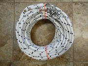 7/16x135 Ft. Dac/polyester Halyardspliced In Lrge Bail Shackle W/black Tracers