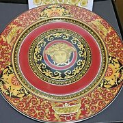 Versace Medusa Limited Charger Plate With Catalog 20 Years Luxury Wall New Box
