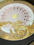 Versace Byzantine Limited Charger Plate W Medusa Face Catalog 20 Years Wall New