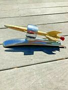 1949-50 Ford Aftermarket Accessory Rocket Hood Ornament Plastic Flame Airplane