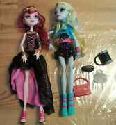 Monster High Lot Of 2 13 Wishes Draculaura Ghouls Night Out Lagoona Blue