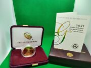 21ec W 2021 American Eagle 1/2 Oz Ounce Gold Proof Coin