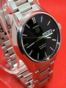 Tag Heuer Carrera Day-date Calibre 5 Automatic 41mm Steel Watch War201a Mint.