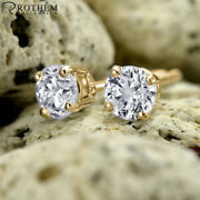 1 Ct Diamond Stud Earrings Yellow Gold Screw Back One I2 Andpound4100 52265036