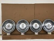 1968 1969 Cadillac Deville Stainless Steel Vintage 15andrdquo Hubcaps Set Oem 68 69
