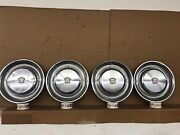 1974-1976 Cadillac Deville Stainless Steel Vintage 15andrdquo Hubcaps Set Oem 74 75 76