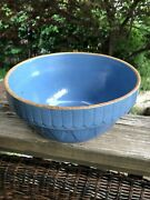 Early Brush Mccoy Blue Mixing Bowl 1920s Deco 10.25andrdquo