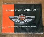 New Old Stock 2003 Harley Davidson Motorcycles 100th Anniversary Patch Medium