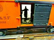 Vintage Lionel Santa Fe A.t.and S.f. 63132 Operating Box Car No. 3464 With Box