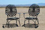 2 Francois Carre Cantilever Garden Spring Bounce Chairs Starburst