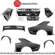 1968 Camaro Quarters Rs Tail Panel Deck Filler Outer Wheel Houses Drop Offs +