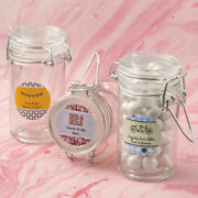 30-96 Personalized Apothecary Glass Candy Jar - Wedding Party Favors