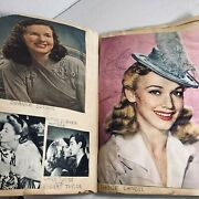 Vintage Movie Star Scrapbook Old Hollywood Golden Age Pin Ups Magazine Clippings