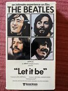 The Beatles Let It Be Vhs, 1981 Apple Music Concert Magnetic Video Label