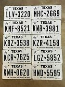 Texas License Plate Lot Of Ten Plates 10 - Expired Vintage