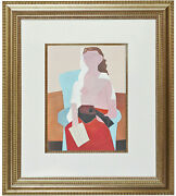 Fine Pablo Picasso And039femmeand039 Pochoir Hand Painted Coa Not Hand Signed 1930