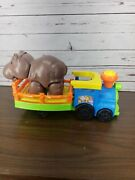 Fisher Price Little People Big Animal Zoo Hippo Train Musical Moveable
