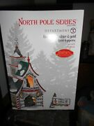 Dept 56 North Pole Village Rudolphand039s Silver And Gold Tree Toppers Nib