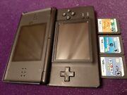 Nintendo Ds Lite Blue With 3 Games Pet Vet, Dogs Fashion, Phineas And Ferbs