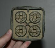 3 Ancient China Bronze Dynasty Circulate Currency Coin Copper Money Mould 004